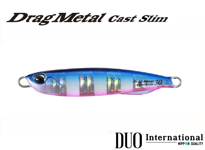 DUO Drag Metal Cast Slim 30g PHA0040 Blue Pink Zebra Glowimage