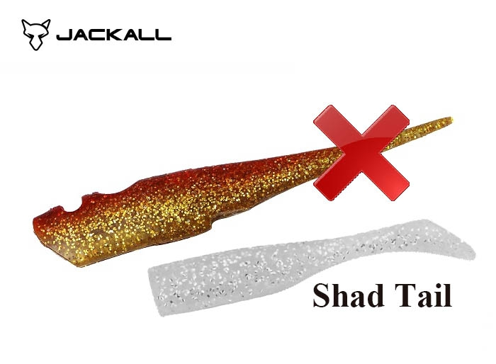 BIG BACKER SOFT VIB SPARE BODY / SHAD TAIL / Red Goldimage