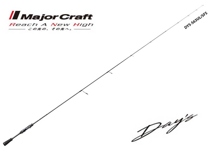 Major Craft Day/'s Super Fine Solid 2pc Model DYS-S682L//SFS spinning rod Japan