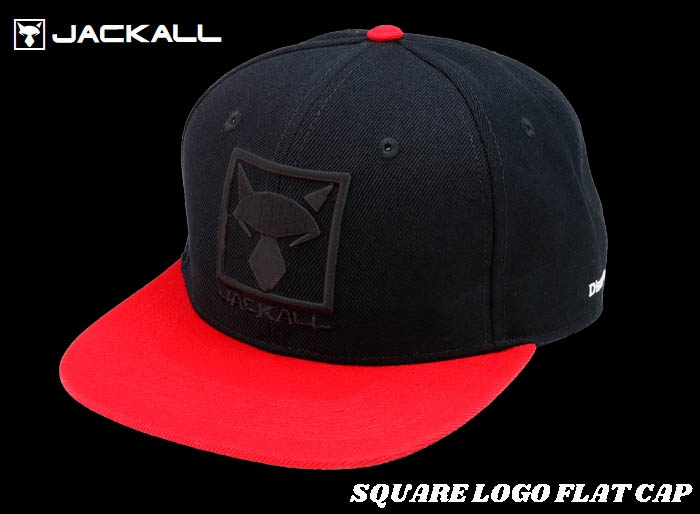 Christmas Sale JACKALL SQUARE LOGO FLAT CAP / Black-Redimage