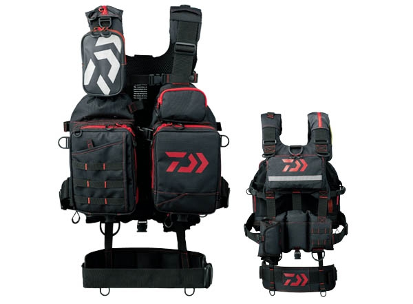 DAIWA Bench Cool Game Vest III DF-6107 Black-Red