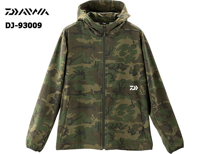 DAIWA DJ-93009 STRETCH FULL ZIP HOODY GREEN-CAMOUFLAGE-XL(October Debut)image
