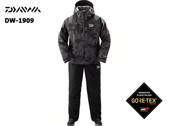 DAIWA DW-1909 Gore-Tex Product Winter Suit BLACK-CAMO-M(October Debut)image