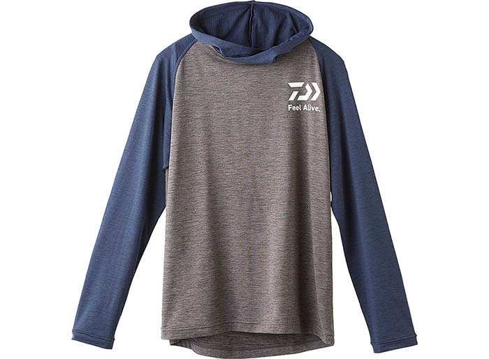 DAIWA DE-93009 Hoody Shirt Gray Mimage