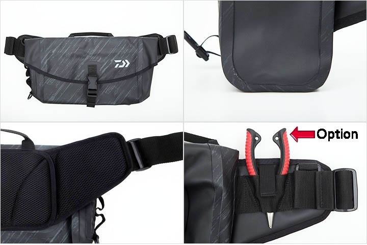 DAIWA 2019 TP HIP BAG Black Camouflage_Image1