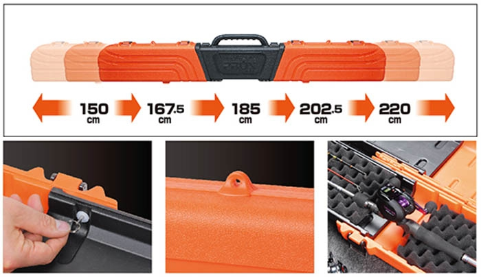 CONTAINER GEAR-5 HARD ROD CASE PX933O(ORANGE)_Image2