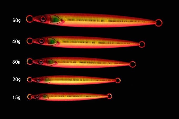 JACKALL BIGBACKER JIG SLIDE STICK 60g Red Gold Magma Holo_Image2