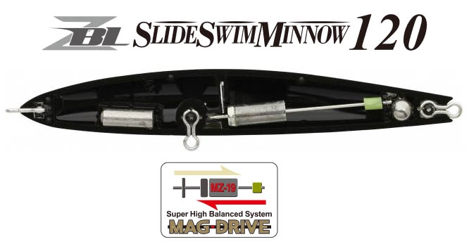 ZIP BAITS ZBL SLIDE SWIM MINNOW 120 #428_Image1