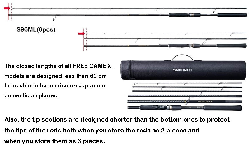 SHIMANO FREE GAME XT S96ML (Free Shipping)_Image3