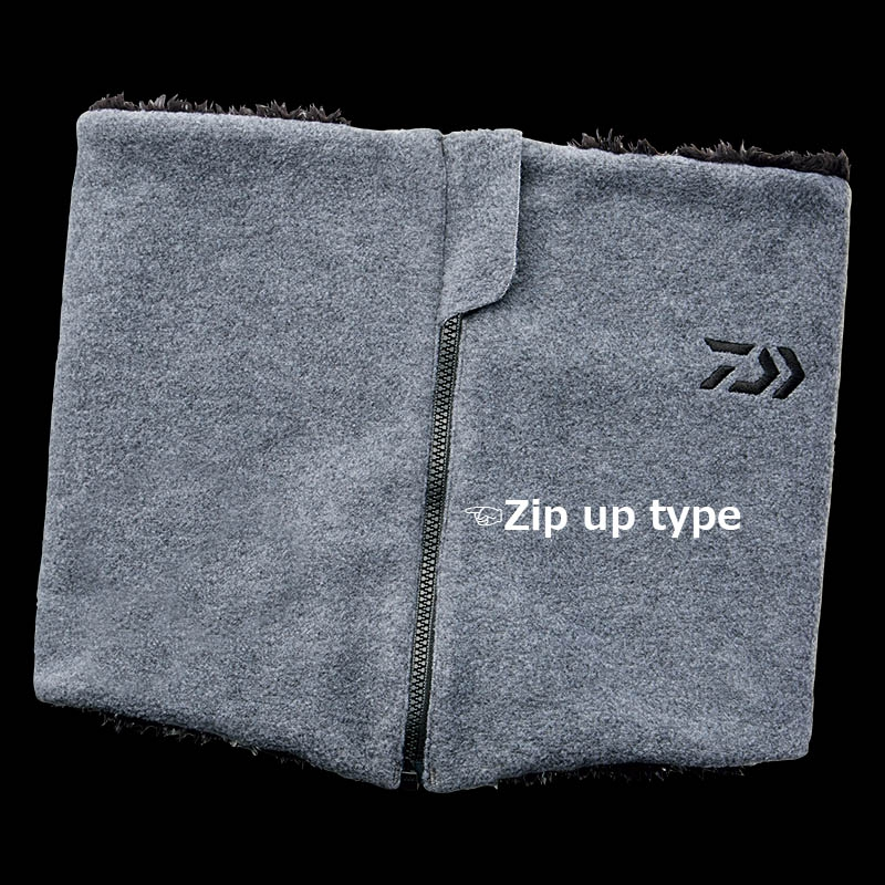 DAIWA Zip-Up Neck Gaiter DA-95008W Gray_Image1