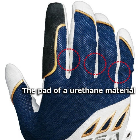 SHIMANO OCEA Big Game Support Glove White Navy-L_Image5