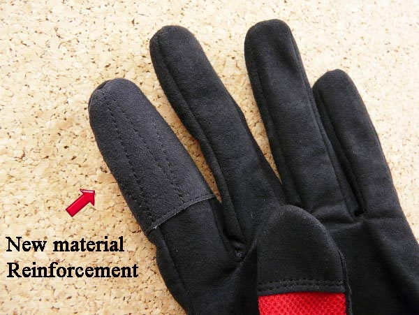 Carpenter Fishing Glove II Natural 3D Structure Type L-Red_Image2