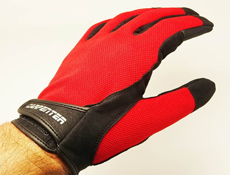 Carpenter Fishing Glove II Natural 3D Structure Type L-Red_Image1