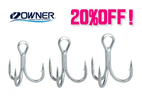 OWNER TREBLE HOOK ALL 20%OFF
