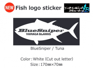 YAMAGA-BLANKS Fish Logo Sticker