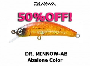 50%OFF! DAIWA DR. MINNOW Abalone Color