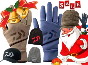 20 Xmas sale 50%OFF DAIWA Glove, Knit cap