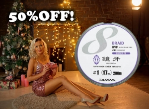 20 Xmas sale 50%OFF DAIWA UVF KYOHGA SENSOR 8 BRAID+Si
