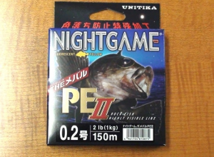 UNITIKA NIGHT GAME PE-II MEBARU