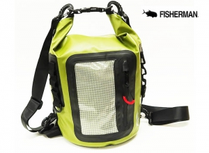 FISHERMAN WATERPROOF BAG 8L Green