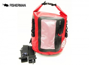 FISHERMAN WATERPROOF BAG 8L Red