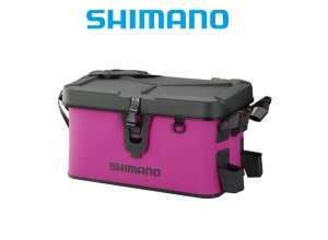 SHIMANO Rod Rest Bag Hard Type Lime 27L Pink