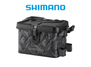 SHIMANO Rod Rest Bag Hard Type Lime 27L Wave Camouflage