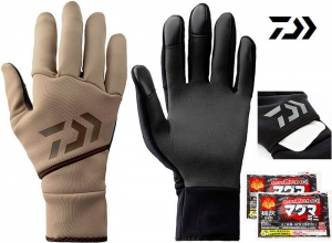 50%OFF DAIWA Stretch glove light brown L(with hand warmer pocket)
