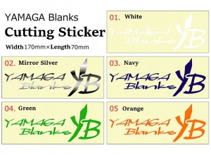 2019 YAMAGA BLANKS CUTTING STICKER S MIRROR SILVER