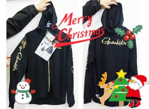 2019 Xmas sale/Gamakatsu GM3455 COOL DRY UV-CUT PARKA BLACK-L