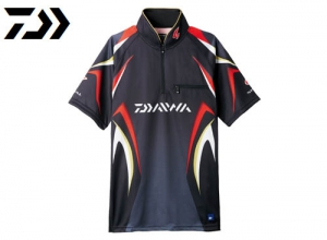 Xmas Sale DAIWA Special Ice Dry Zip Up Mesh Shirt/Black-2XL