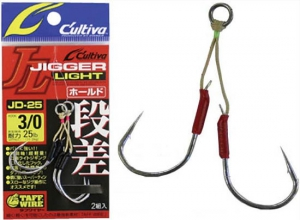 OWNER Caltiva Jigger Light Twin Assist Hook JD-25 #1/0