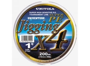 30%OFF UNIVENTURE SUPER PE JIGGING X4/200m-0.6(8lb)
