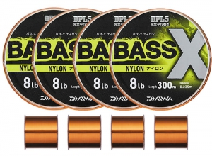 DAIWA BASS-X NYLON 10lb-300m / 4pcs set (1200m)