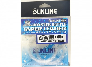 SUNLINE MONSTER BATTLE TAPER LEADER 100LB--40LB