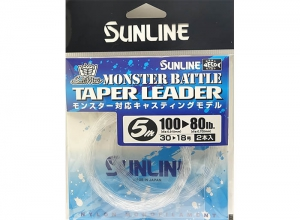 SUNLINE MONSTER BATTLE TAPER LEADER 100LB--80LB