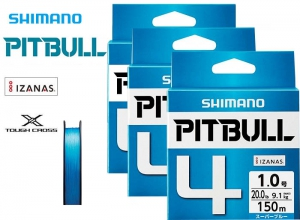 SHIMANO PITBULL 4 Braid 10.3lb-150m Super Blue (3 pcs Set)