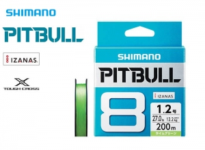 SHIMANO PITBULL 8 Braid 14.5lb-150m Lime Green