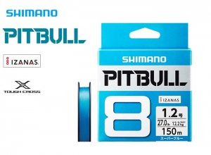 SHIMANO PITBULL 8 Braid 14.5lb-150m Super Blue