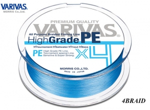 High Grade PE X4 #0.6(10LB)-150m Water Blue