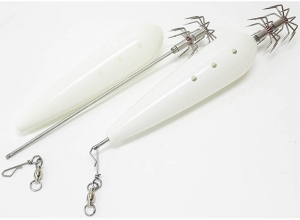 WKI Pro Fishing Gear Diamond Squid Jig 2pcs set