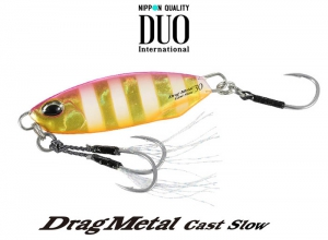DUO Drag Metal Cast Slow 15g PJA0045 Pink Gold Zebra Glow