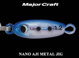 MAJOR CRAFT NANO AJI METAL JIG 0.6g #1 Sardines [KEIMURA]
