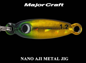 MAJOR CRAFT NANO AJI METAL JIG 0.6g #4 GreenGold [KEIMURA]