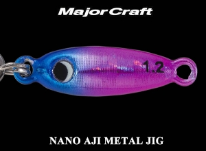 MAJOR CRAFT NANO AJI METAL JIG 0.6g #5 BluePink [KEIMURA]
