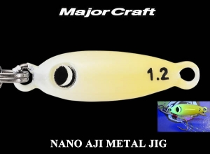 MAJOR CRAFT NANO AJI METAL JIG 0.6g #6 Glow Chart