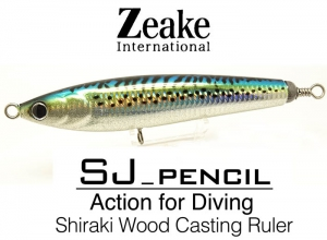 Zeake INTERNATIONAL SJ-PENCIL SJP190 / 003 Silver Powder Holo Mackerel
