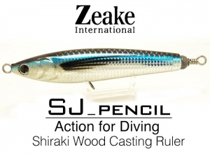 Zeake INTERNATIONAL SJ-PENCIL SJP160 / 006 Silver Powder Holo Flying Fish