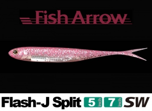 Garage sale Flash-J Split 5inch SW #117 Glow Pink Silver