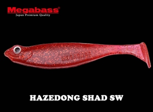 MEGABASS HAZEDONG SHAD SW 3inch CLEAR RED
